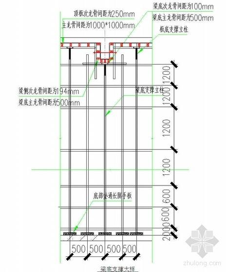 济南某商住楼高支模工程施工方案(附计算 12.95米高)