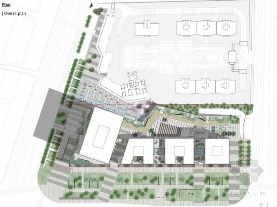"""[太原]""""樱飞雪""""简约生态化公司中心绿地景观规划设计方案(国外设计所)"""