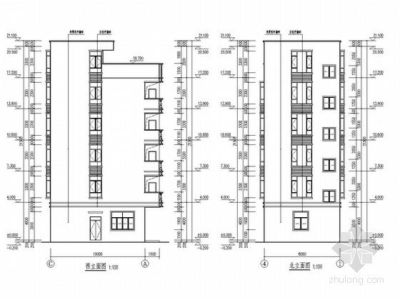 [广东]五层框架结构私人住宅结构施工图(含详细建筑图)