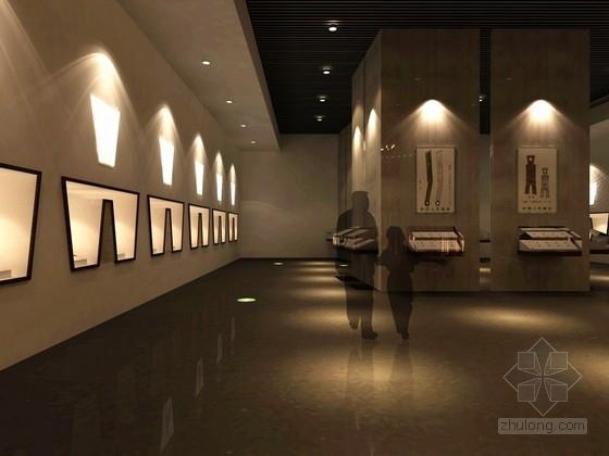 [北京]东二环现代风格专题博物馆室内设计方案图效果图