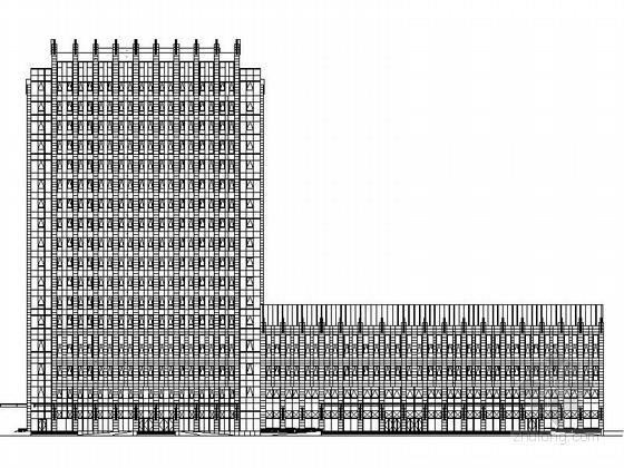 [山东]现代风格高层市级军区医院设计施工图(含详细结构图知名建筑设计院)