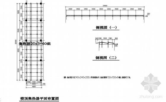 太原某1000吨泳池太阳能加热设计图