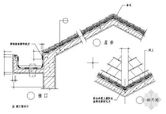 玻纤瓦坡屋面构造详图