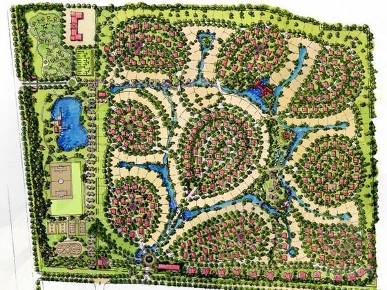 [北京]现代美式风格居住区景观规划设计方案