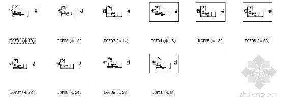 点式幕墙i拉杆索头系列节点详图