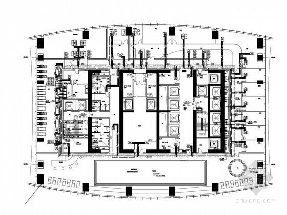 [广州]超高层商住综合楼空调及通风排烟系统设计施工图(蓄冰系统)
