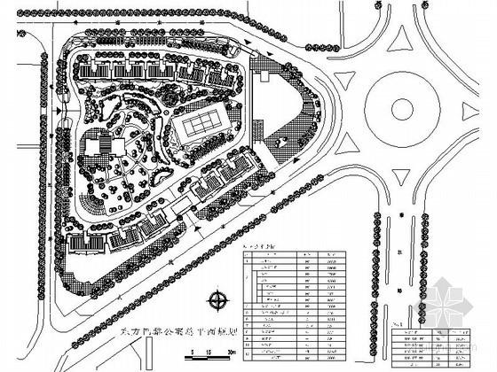 某居住区详细规划方案图(含彩色总平、效果图)