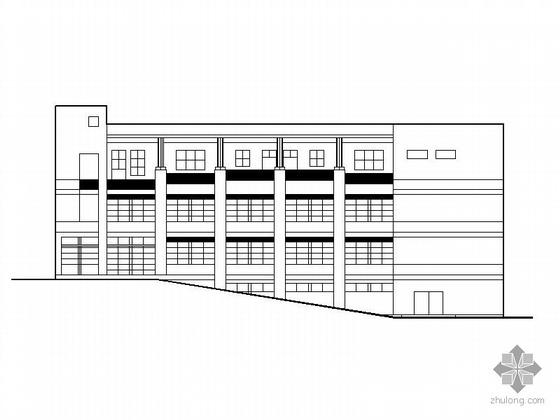 某西南医院家属区三层食堂建筑扩初图