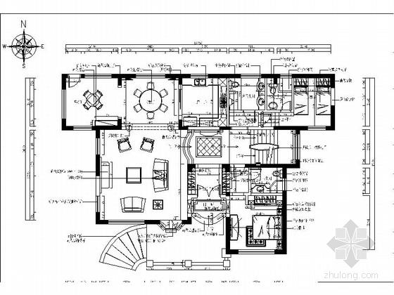 [上海]某园林别墅奢华贵族室内装修全套施工图