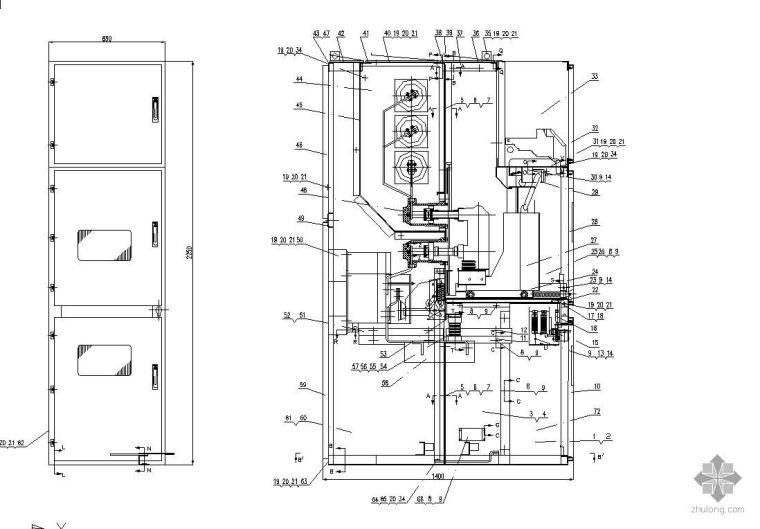 各种高低压配电柜装配图