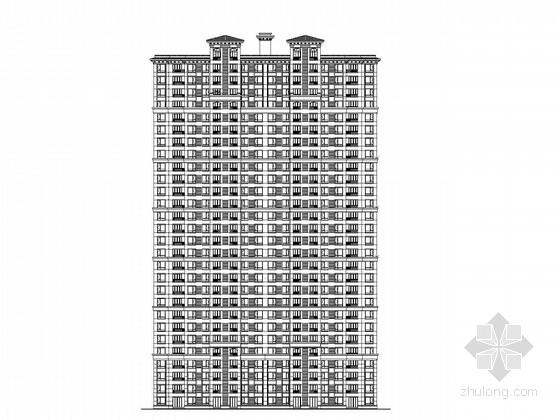 [杭州]30层高层钢筋混凝土结构住宅楼建筑施工图(精品施工图,内容详细)