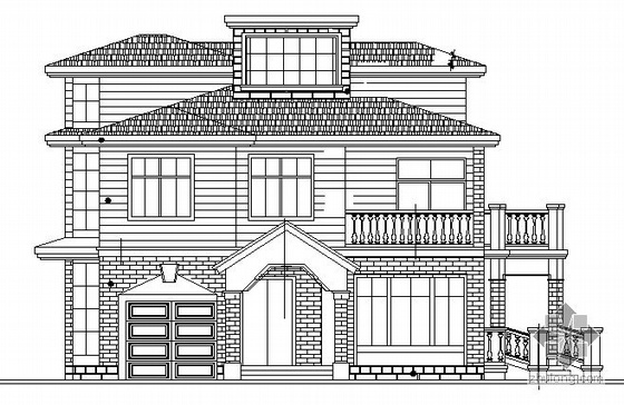 某二层小型别墅建筑设计施工图