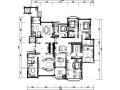 [吉林]经典豪华法式样板房室内设计施工图(含设计方案)