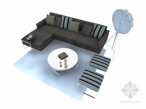 现代简洁沙发3D模型下载