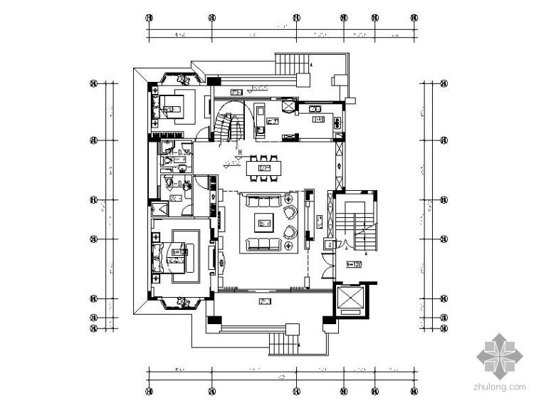 [深圳]经典二层别墅样板房装修图