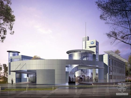 [上海]南汇高新科技工业园区某办公楼建筑设计文本