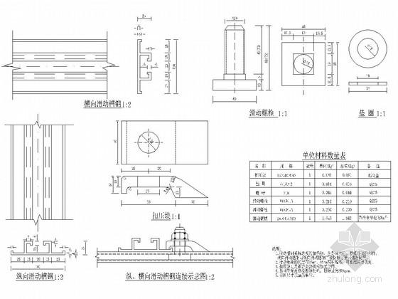 城市道路交通标志单柱式支撑结构设计图5张