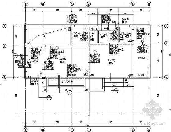 框架临时售楼处结构施工图