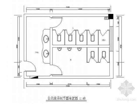 酒店公共卫生间室内装修图(含效果)