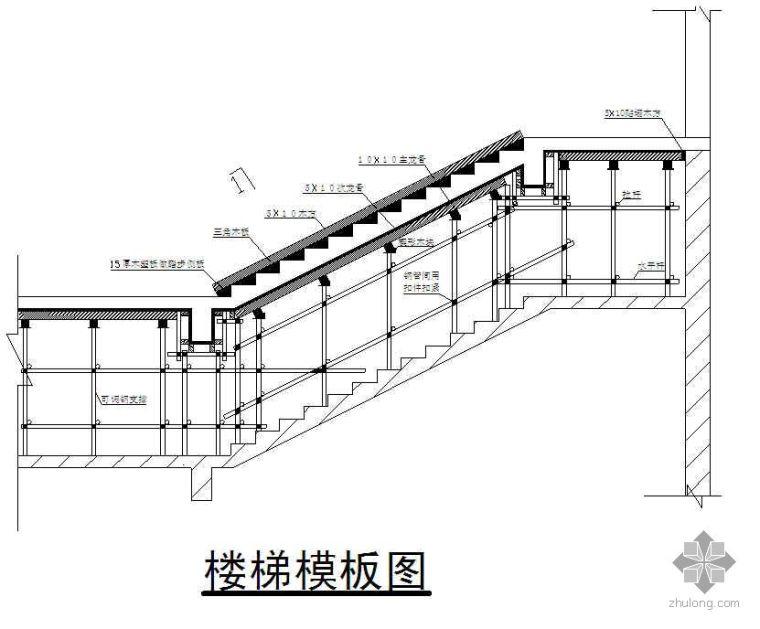 楼梯模板施工技术交底(多层板 木模板)