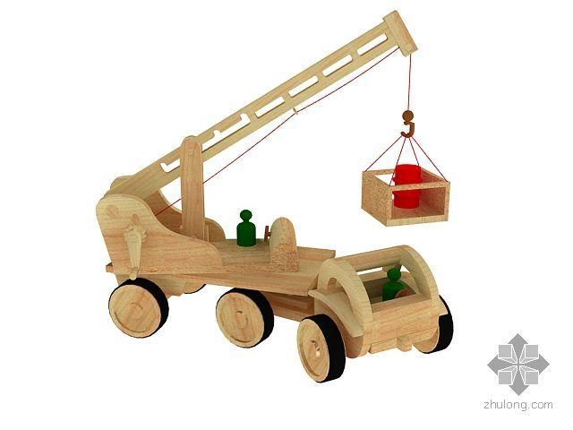 儿童玩具-木制小吊车