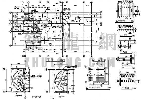 三层别墅建筑施工图-4