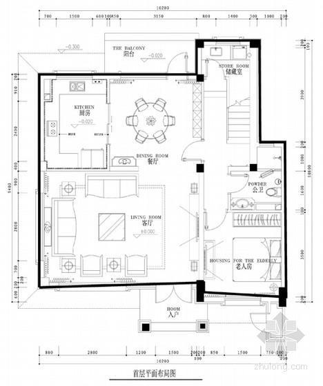 [沈阳]新城核心区新古典风格四居室样板间设计方案