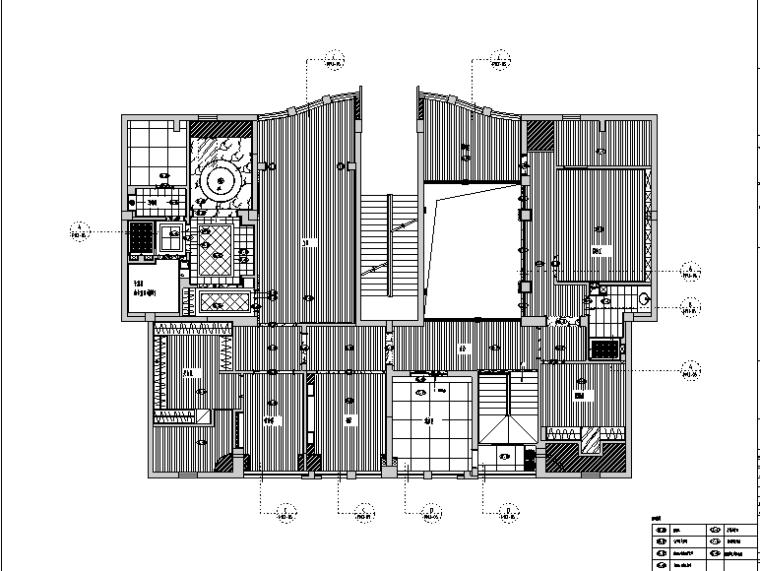 福清中庚紫金香山家装设计完整施工图(高清效果图)