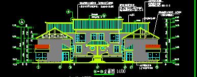 3层遵义某民居式度假村建筑施工图