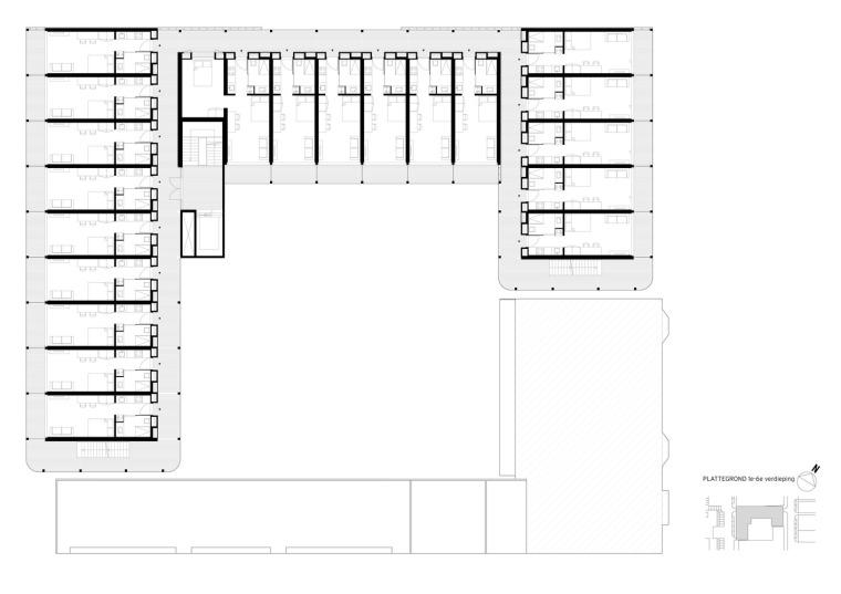 荷兰预制混凝土模块式的住宅-荷兰预制混凝土模块的住宅平面图 (11)