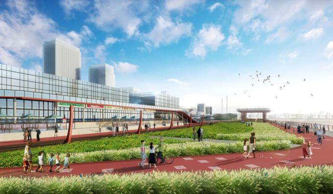 [上海]滨江综合型城市水岸工业文化生态游廊景观设计方案