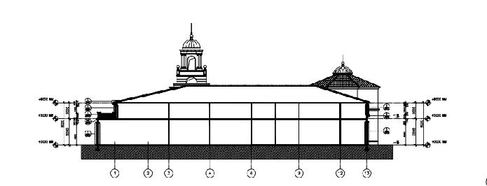 [云南]安宁温泉国际会议商业扩充设计方案文本(PDF)-剖面图