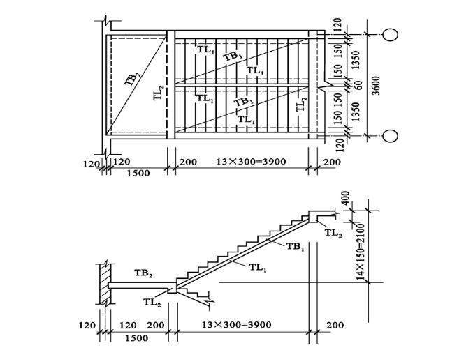 现浇梁式楼梯设计计算例题