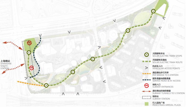 [上海]南站绿轴景观方案设计(现代风格)A-6交通规划