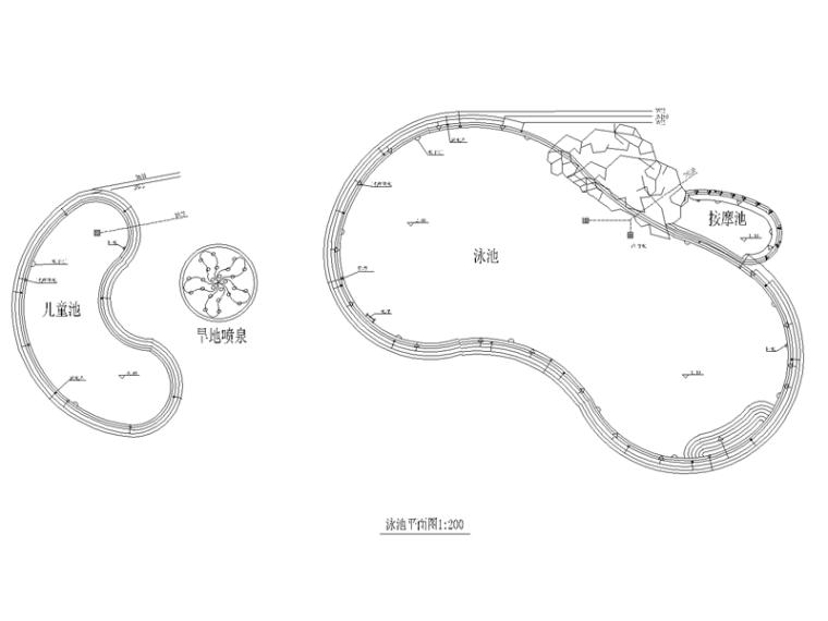 海怡花园泳池CAD详图