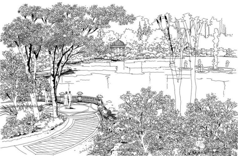 景观项目手绘效果图赏析