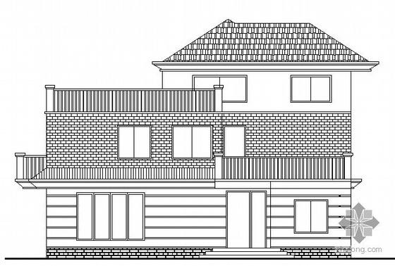 某三层坡屋顶小型别墅建筑施工图