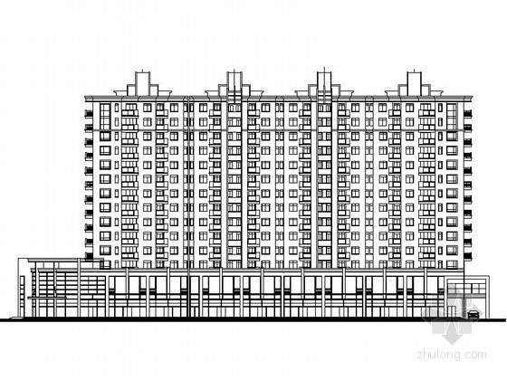 [江苏]某小区住宅楼建筑设计方案图(含效果图)