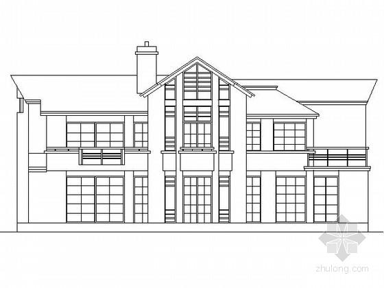 某二层北美风情别墅方案图(300平米南入口)