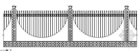 铁艺栏杆立面设计图(一)