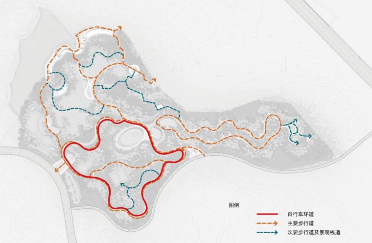 [安徽]大型户外运动基地规划设计方案文本-大型户外运动基地分析图