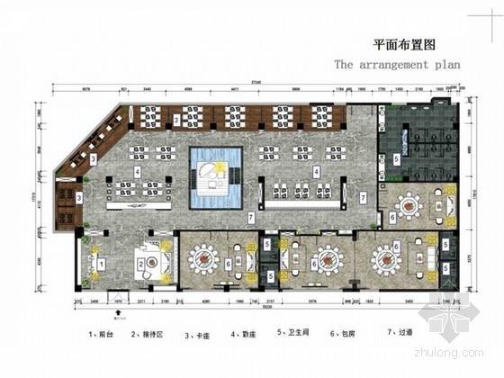 [广东]580平中餐厅室内装修设计概念方案