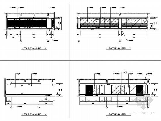 [江苏]独创哲学社会科学研究机构学院新校区图书馆装修施工图(含效果)电子阅览室立面图