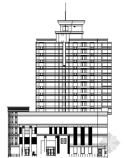 某十五层办公综合楼方案设计图