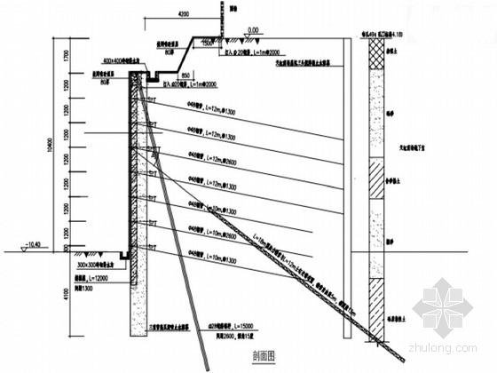 [广东]城中村改造复合土钉墙基坑支护施工图(原创)