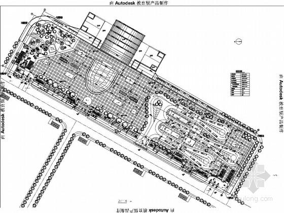 [沈阳]地下二层框架结构大型广场结构图