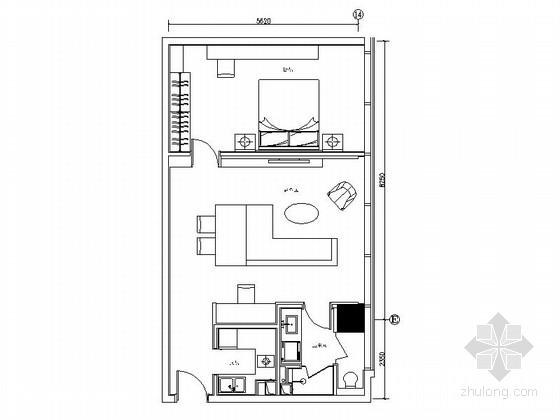 [北京]高档社区日式风格一居室样板间装修图(含效果)
