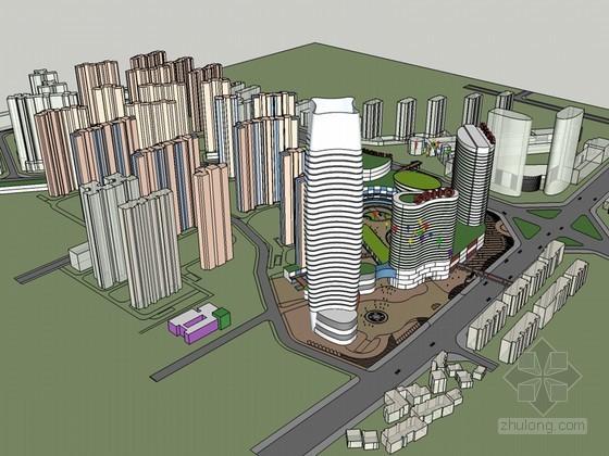 美仑美奂建筑SketchUp模型下载