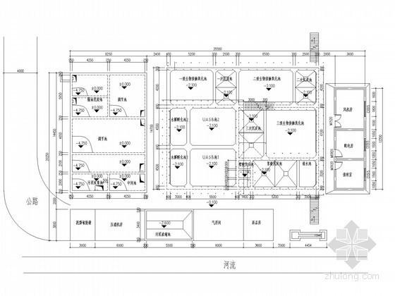 uasb工艺图纸资料下载-[重庆]300吨屠宰生产废水综合处理项目图纸