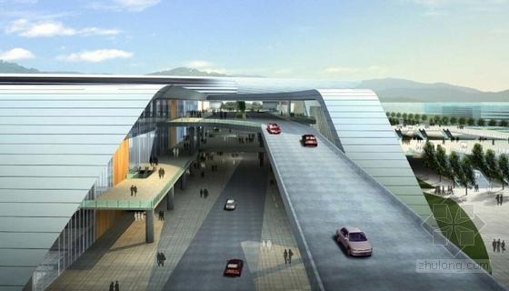 现代风格高铁站建筑设计效果图